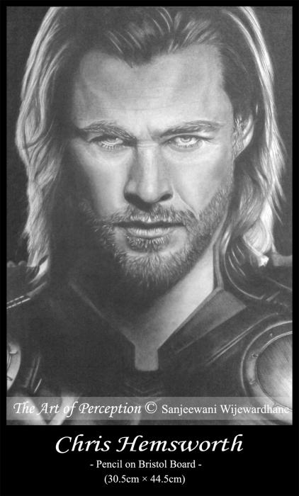 Chris Hemsworth by sanjulkm